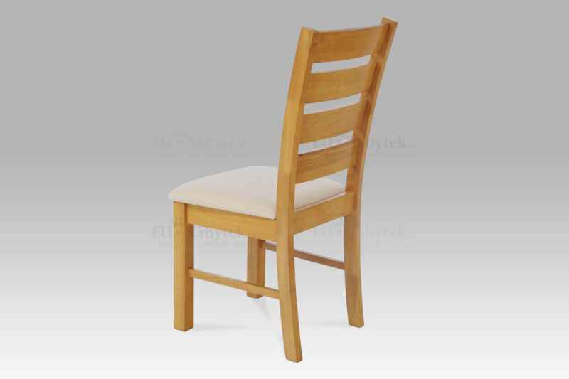 jídelní židle, barva dub, potah béžový