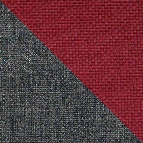 Sedací souprava DORI červená / šedá (sedačka+křeslo+taburet)