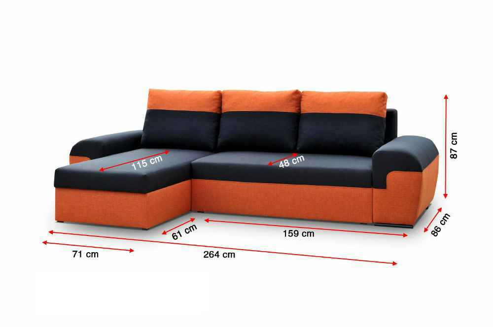 Sedací souprava DORI černá-melír / eco.bílá (sedačka+křeslo+taburet)