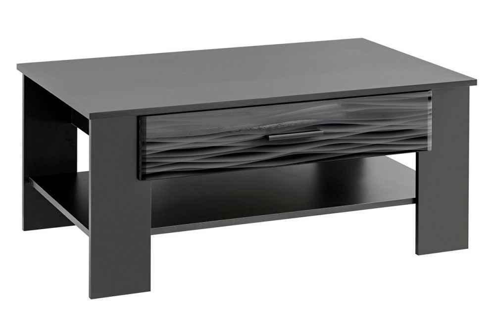 Konferenční stolek LADIE černá / sahara lesk
