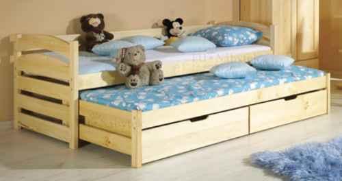 Dětská postel TONČA vysouvací - dol moření ořech