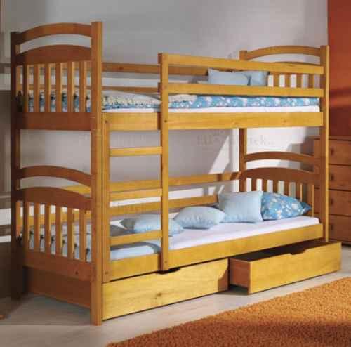 Dětská postel IRČA poschoďová - dol moření olše
