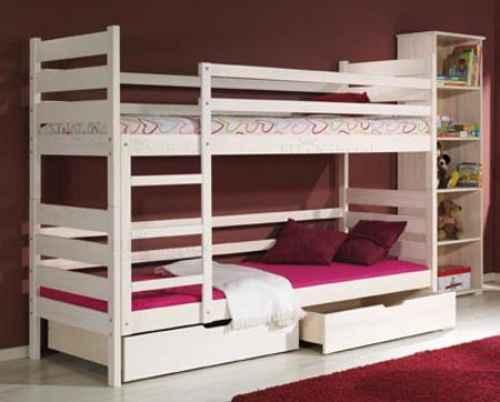 Dětská postel DAVID poschoďová - dol moření bílá