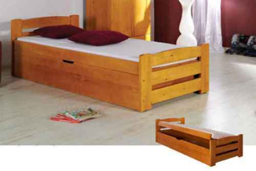 Dětská postel BOLEK - dol moření ořech