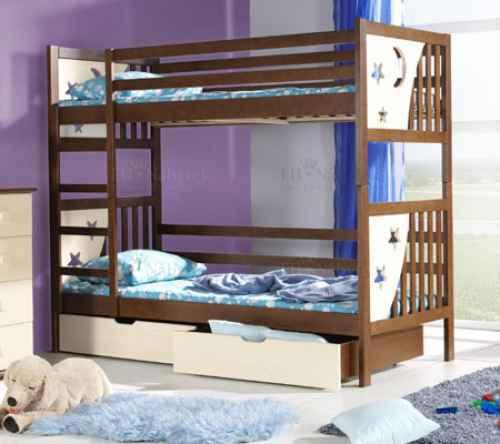 Dětská postel JENDA poschoďová - dol borovice natural