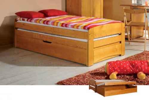 Dětská postel BARTOLOMĚJ vysouvací - dol borovice natural