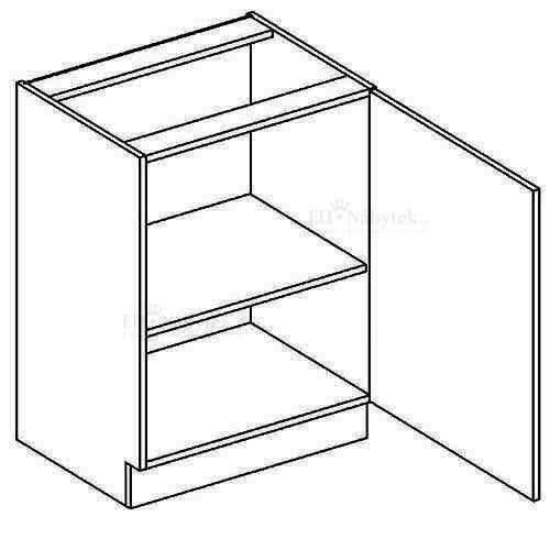 D50P dolní skříňka jednodvéřová NORA de LUX hruška DOPRODEJ