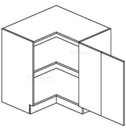 DRPP d. skříňka rohová NORA de LUX 80x80 cm hruška DOPRODEJ