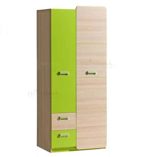 LORENZO L1 šatní skříň zelená