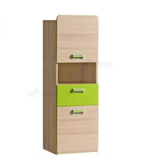 LORENZO L4 skříňka se zásuvkou zelená DOPRODEJ