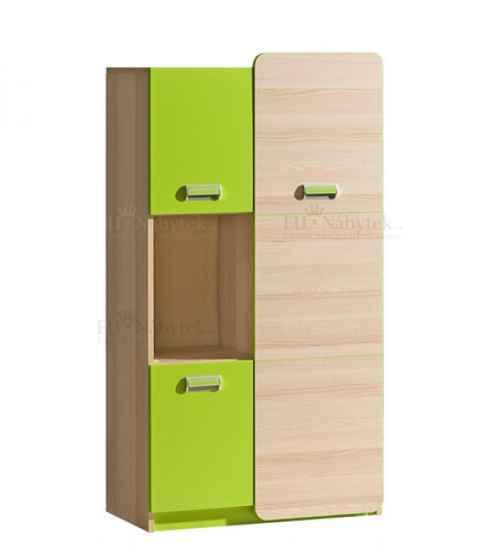 LORENZO L5 kombinovaná skříňka zelená
