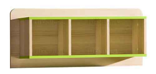 LORENZO L9 závěsný regál zelený