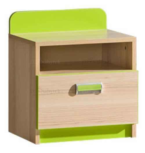 LORENZO L12 noční stolek zelený