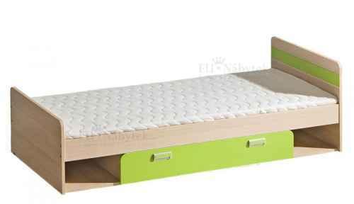 LORENZO L13 postel s úložným prostorem zelená