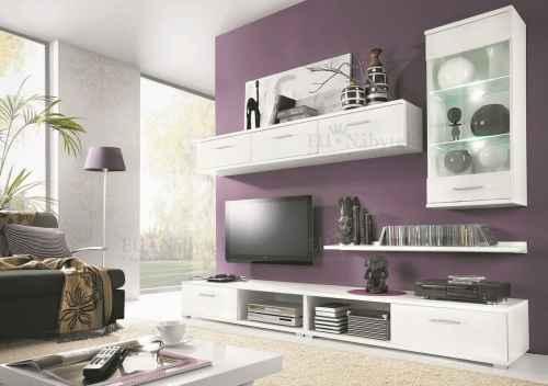 Obývací stěna MALIBU bílá DOPRODEJ