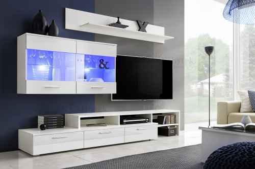 Obývací stěna ZARA bílá