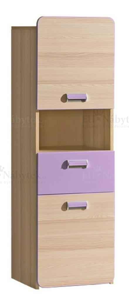 LORENZO L4 skříňka se zásuvkou fialová DOPRODEJ