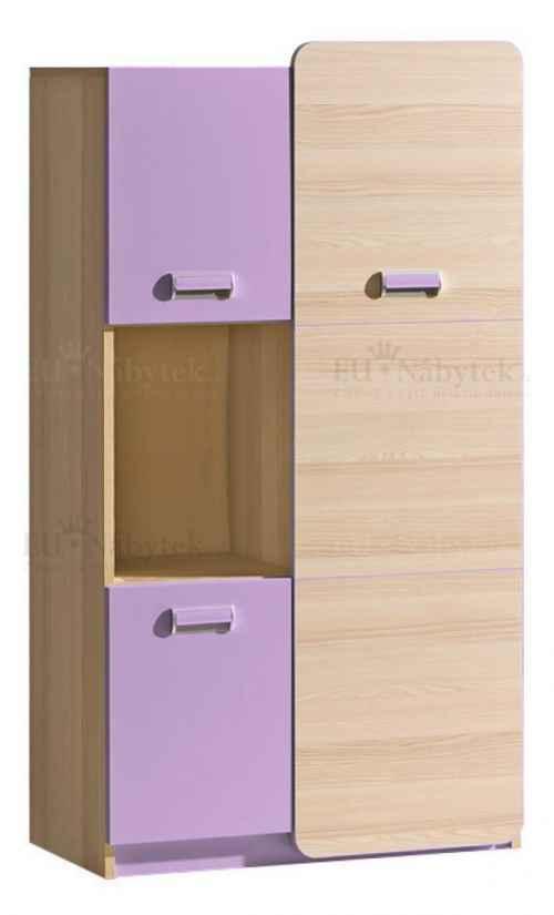 LORENZO L5 kombinovaná skříňka fialová DOPRODEJ