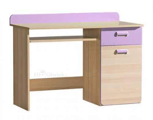 LORENZO L10 pracovní stůl fialový