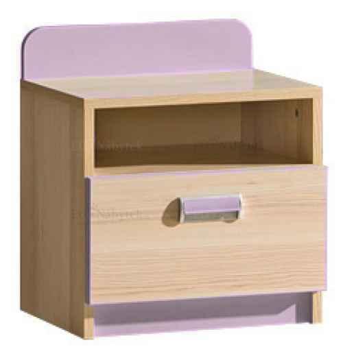 LORENZO L12 noční stolek fialový