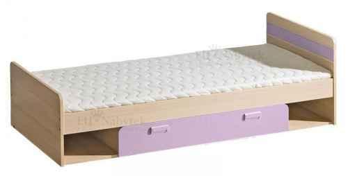 LORENZO L13 postel s úložným prostorem fialová