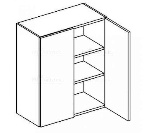 W60 horní skříňka dvojdvéřová LATTE BIS DOPRODEJ