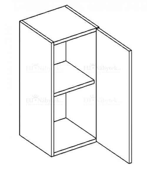 W30P horní skříňka jednodvéřová PREMIUM olše DOPRODEJ