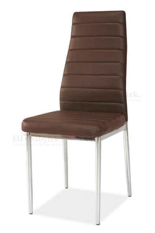 Jídelní čalouněná židle H-261 hnědá