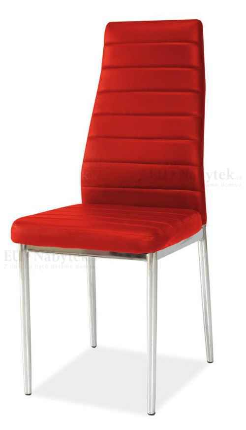 Jídelní čalouněná židle H-261 červená