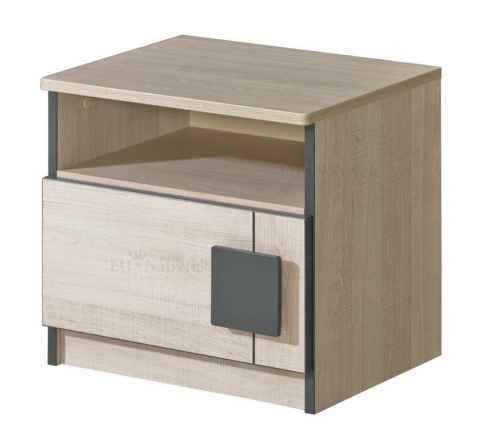 GAMI G12 noční stolek - dol-dub-santana-šedá