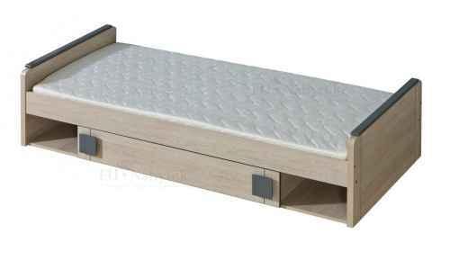 GAMI G13 postel s úložným prostorem - dol-dub-santana-hnědá