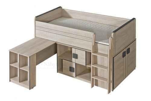GAMI G19 patrová postel ( komplet G15 + G17 ) - dol-dub-santana-hnědá