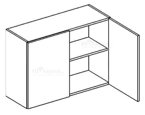 W80/58 horní skříňka dvojdvéřová MORENO sonoma
