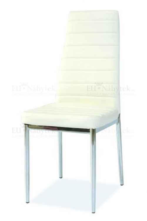 Jídelní čalouněná židle H-261 bílá DOPRODEJ