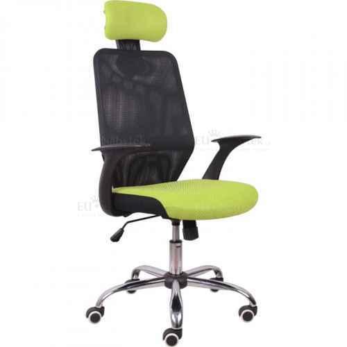 Kancelářská židle, černá/zelená, REYES