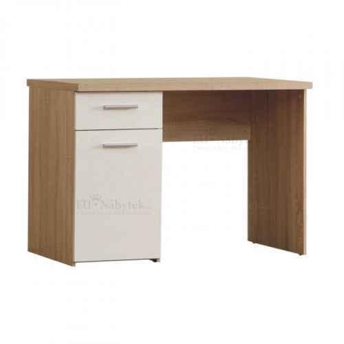 PC stůl, dub sonoma / bílá, WINIE WNB935