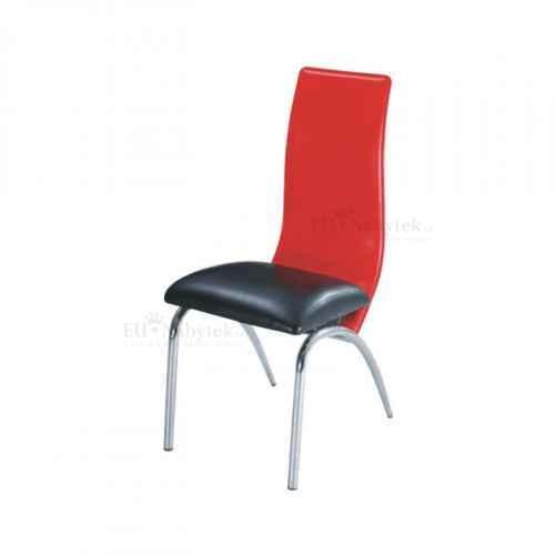 Jídelní židle, červená / černá, DOUBLE