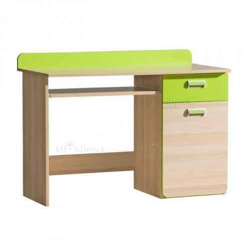 PC stůl, jasan / zelený, EGO L10