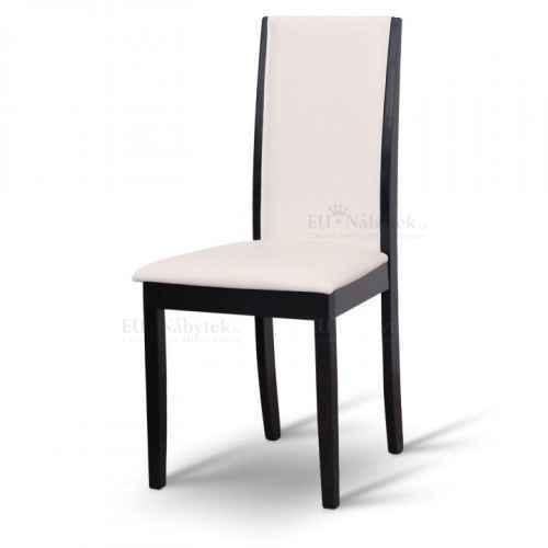 Jídelní židle, wenge / ekokůže bílá, VENIS
