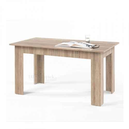 Jídelní stůl, dub sonoma, 140x80, GENERAL