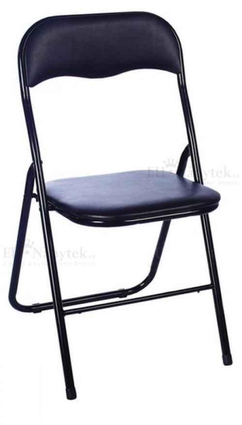Kovová čalouněná židle TIPO černá DOPRODEJ