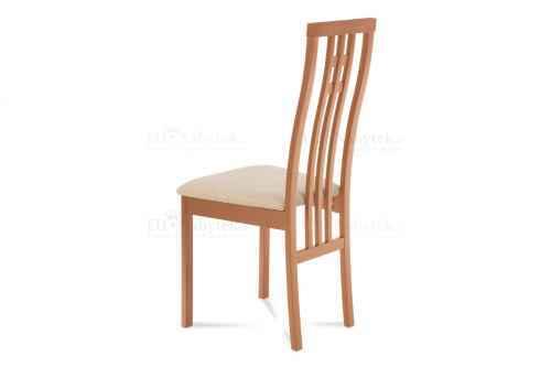 židle masiv buk, barva buk,potah krémový
