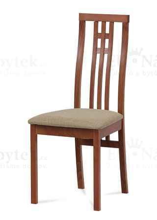 židle masiv buk, barva třešeň, potah krémový