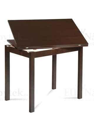 jídelní stůl rozkládací 60+60x90, ořech