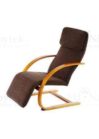 Relaxační křeslo třešeň/potah tmavě hnědý