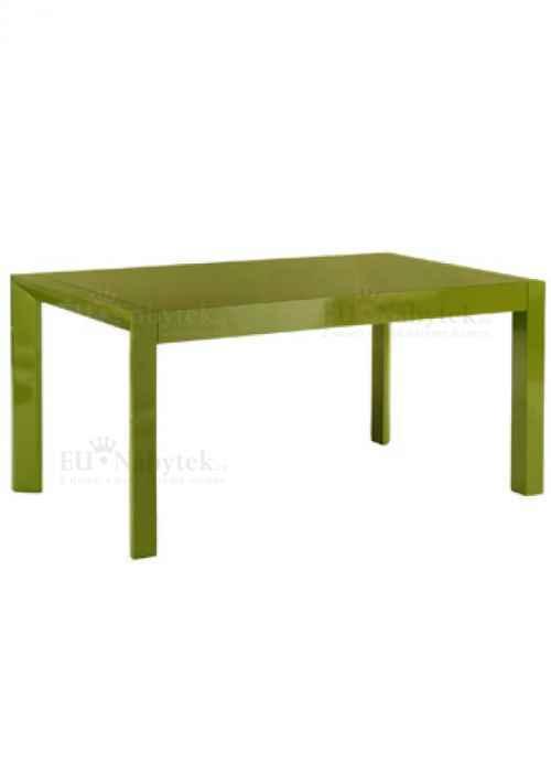 jíd. stůl rozkl., 160+50x90, vysoký lesk zelený
