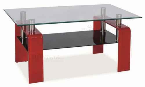Konferenční stolek STELLA - červený DOPRODEJ