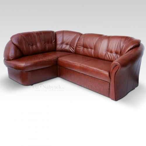 Luxusní sedací souprava, kůže / ekokůže hnědočervená, levá, LAREDO
