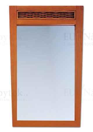 ATHENA-zrcadlo kaučuk./ratan třešeň