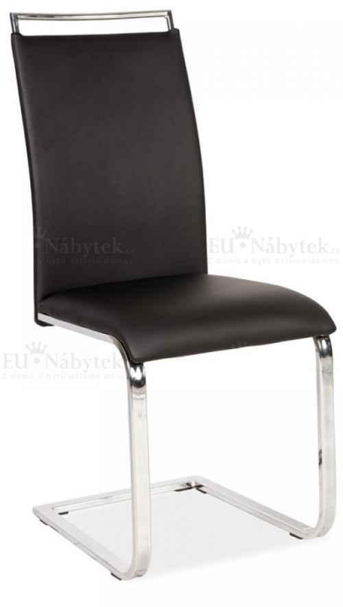 Jídelní čalouněná židle H-334 černá DOPRODEJ